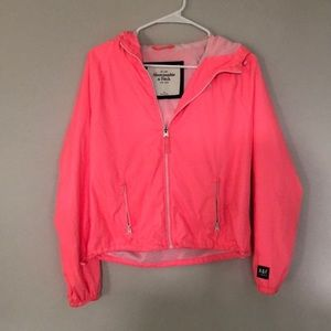 Pink A&F anorak